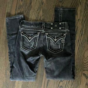 Miss Me JP5014sk-3 skinny black jeans sz28